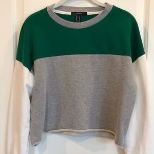 Forever 21 cropped colorblock sweatshirt